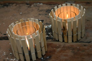 clothespin candle