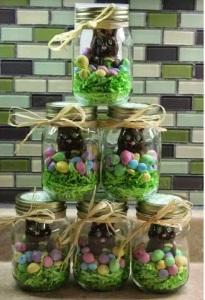 mason jar - with chocolate bunny