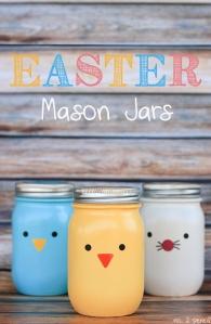 Mason jars Easter